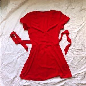 Little Red Wrap Dress